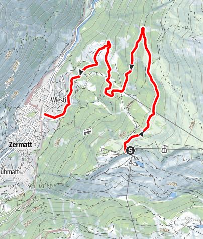 Map / Kickbike on Sunnegga