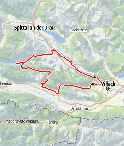 Karte / Von Villach zur Windischen Höhe - Rennradgenuss in der Region Villach