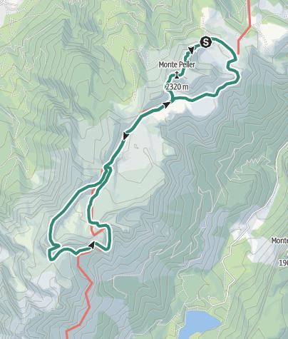 Karte / Rundwanderung über die panoramareiche Hochebene Pian della Nana zu Füßen der Cima Sasso Rosso