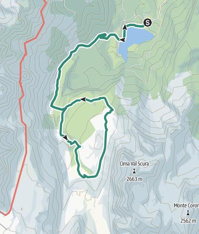 Map / Dal Lago di Tovel a Malga Flavona nel cuore delle Dolomiti di Brenta