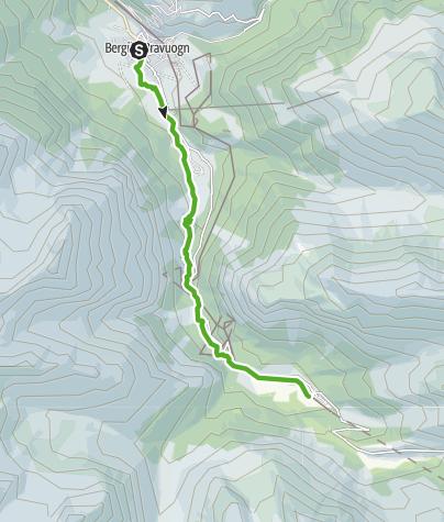 Kaart / 33.04 Bergün - Preda, Via Albula / Bernina