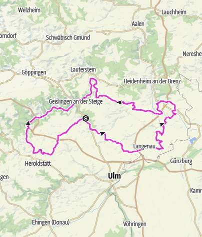 "Karte / Rennradtour ""Albtäler"""
