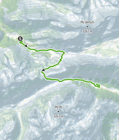 Kaart / 33.05 Preda - Spinas, Via Albula / Bernina