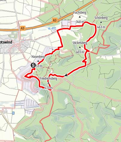 Karte / TraumRunde Abtswind