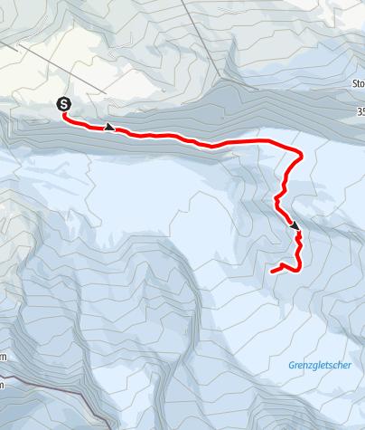 Karte / Gletschertrekking zur Monte Rosa Hütte (Nr. 21a)