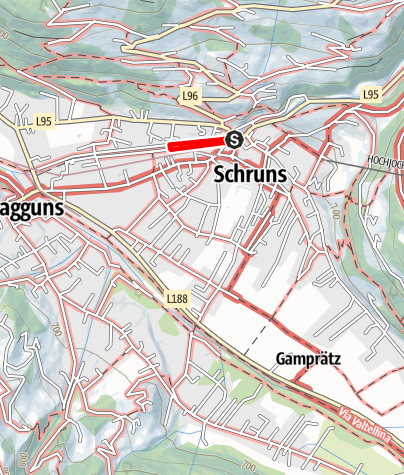 Karte / Weg der großen Namen in Schruns-Tschagguns