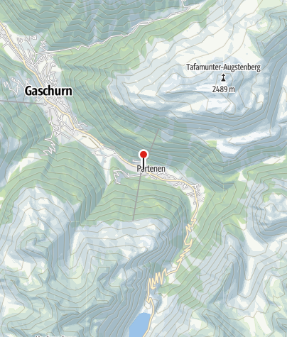 Karte / T10: Talstation Tafamuntbahn