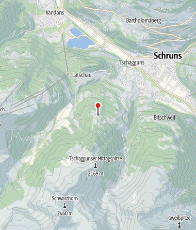 Karte / L8: Berggasthof Grabs, Tschagguns