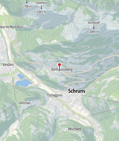 Karte / T12: Hotel Bergerhof, Bartholomäberg (außer montags)
