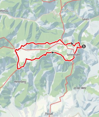 Karte / Gipfelrundwanderweg Teichalm - Sommeralm