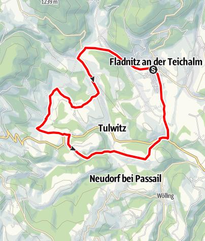Karte / Landpartie am Radl, Fladnitz an der Teichalm