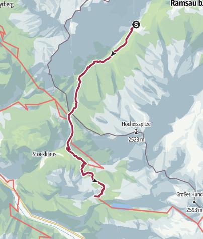 Karte / Vom Hintersee zur Kallbrunnalm