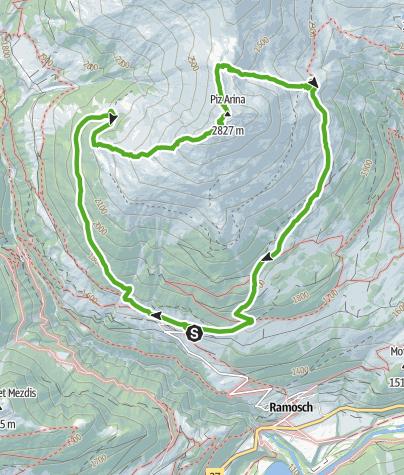 Map / Piz Arina