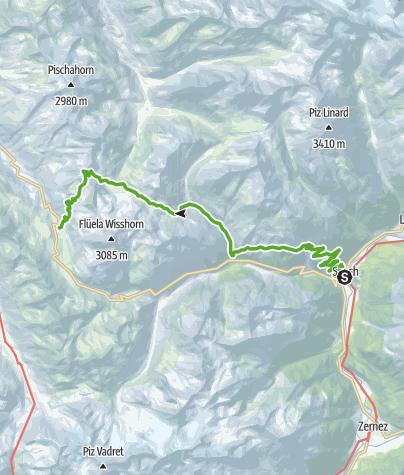 Kaart / Susch - Jöriseen - Wägerhus