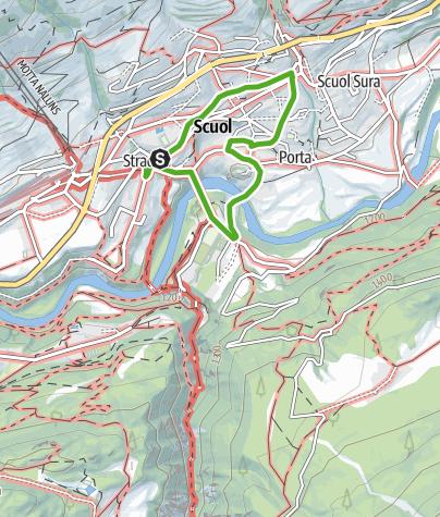 Karte / Foto-Orientierungslauf Scuol