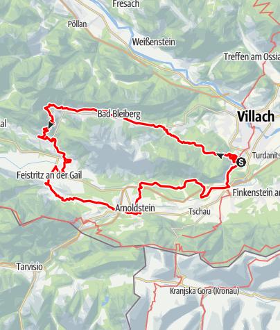 Karte / Dobratsch Rundwanderweg