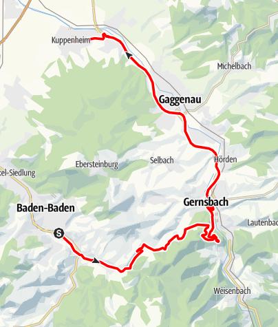 Karte / Badische Weinstraße | Weinschleife Murgtal