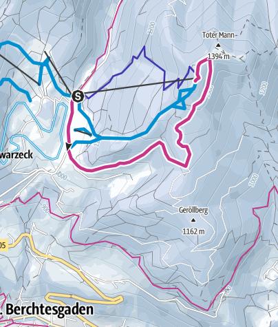 Karte / Winterwanderung zum Hirschkaser