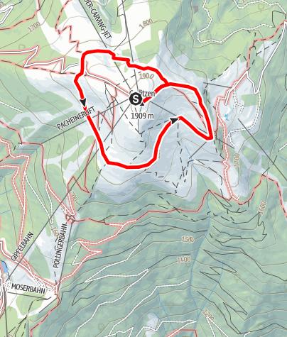 """Karte / Wandern auf der Gerlitzen - Am """"Traumbogen"""" Höhenrundweg rund um den Gipfel der Gerlitzen Alpe"""