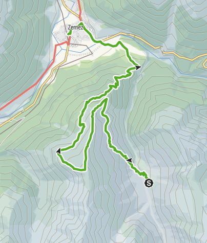 Karte / 45.06 Zernez (Vallun Chafuol) - Zernez, Nationalpark-Panoramaweg