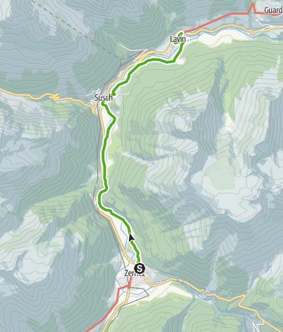 Karte / 45.07 Zernez - Lavin, Nationalpark-Panoramaweg