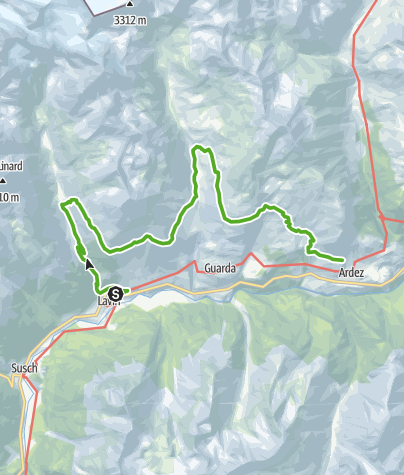 Map / 45.08 Lavin - Ardez, Nationalpark-Panoramaweg