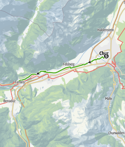 Map / 6.01 Chur - Tamins, Alpine Passes Trail