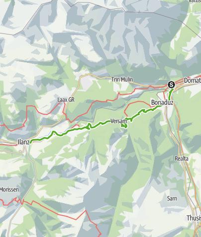 Karte / 6.02 Tamins - Ilanz, Alpenpässe-Weg