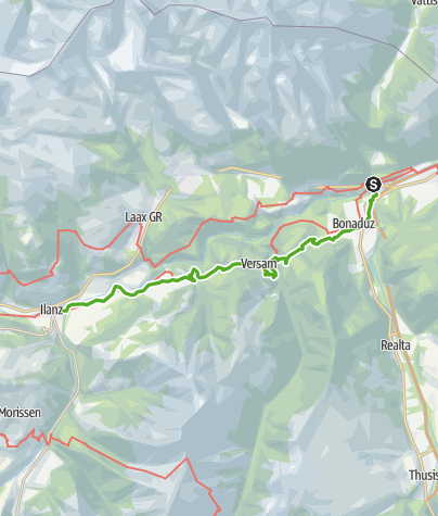 Map / 6.02 Tamins - Ilanz, Alpine Passes Trail