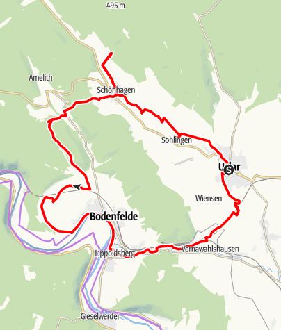 Karte / Naturtour Solling