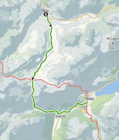 Map / 25.02 Bivio - Maloja, Senda Segantini