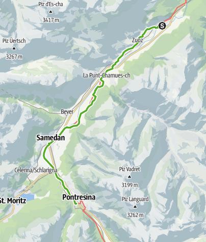 Map / 30.04 S-chanf - Pontresina, ViaValtellina