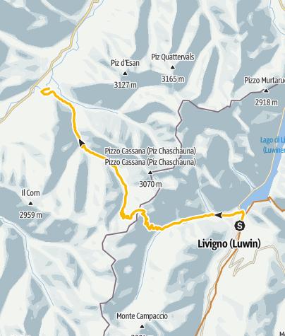 Karte / 444.03: Nationalpark Bike-Tour 3. Etappe Livigno - S-chanf