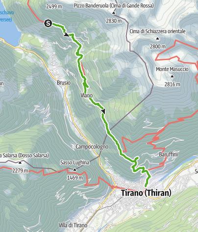 Karte / 30.07 S. Romerio - Tirano (I), ViaValtellina