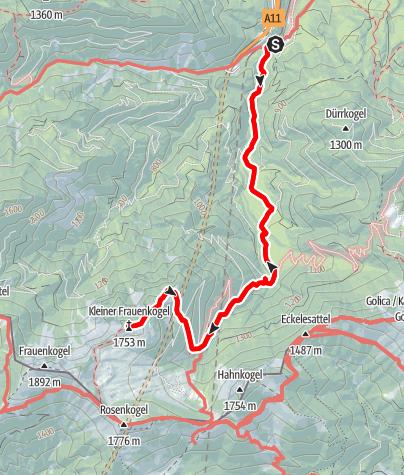 Karte / Wanderung Kleiner Frauenkogel
