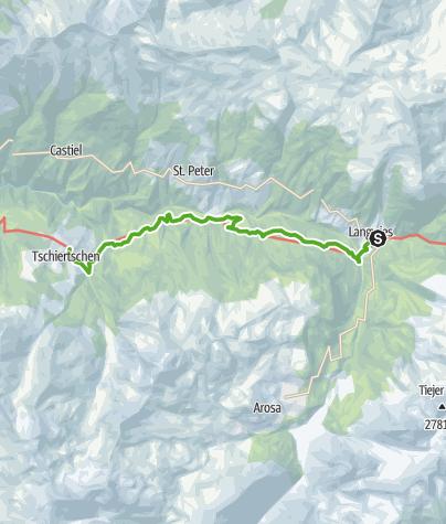 Karte / 43.10 Langwies - Tschiertschen, Jakobsweg Graubünden