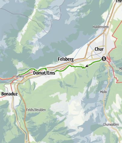 Karte / 43.12 Chur - Tamins, Jakobsweg Graubünden