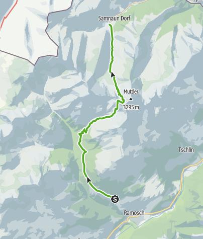 Map / Fuorcla Maisas