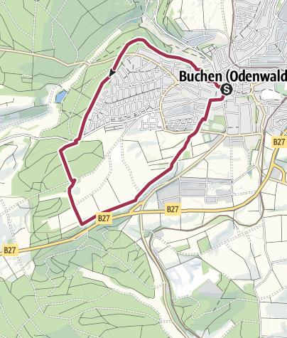 """Karte / Wolfsgarten - Weg / """"zur Richterstätte des Mittelalters"""""""
