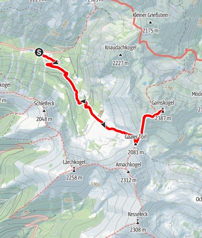 Karte / Gamskögel Westgipfel