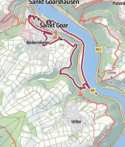 Map / Panoramic Trail St. Goar