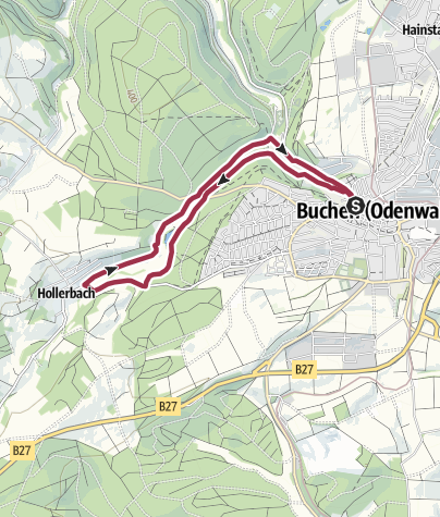 Karte / Hollerbacher - Weg / Zur Mutterkirche des Odenwaldes