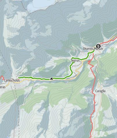 Map / 43.18 Disentis - Sedrun, Jakobsweg Graubünden