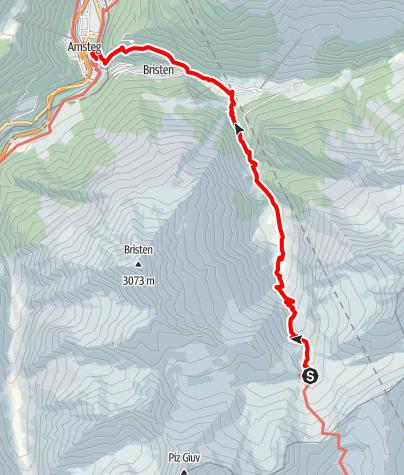 Karte / 43.20 Etzlihütte - Amsteg, Jakobsweg Graubünden