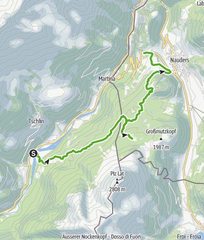Karte / Schwarz- und Grünsee am Dreiländereck