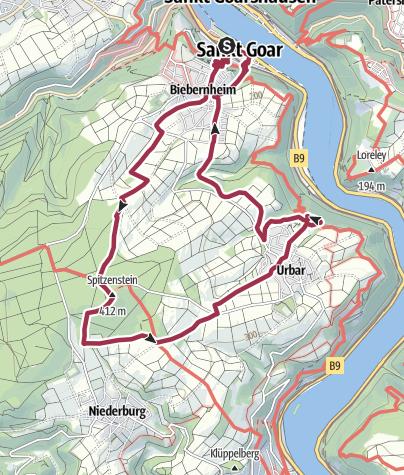 Map / St. Goar - Höhenweg