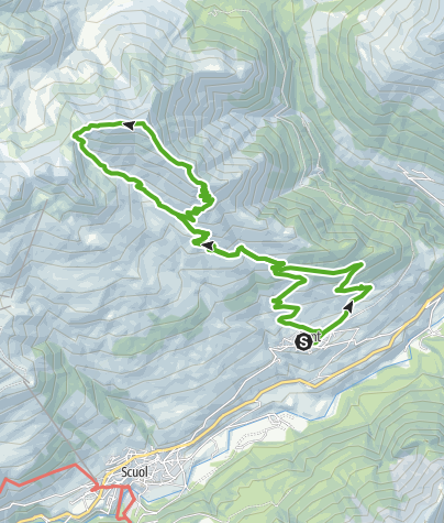Karte / Sent - Mot Spadla - Piz Spadla - Alp Spadla (Rundweg)
