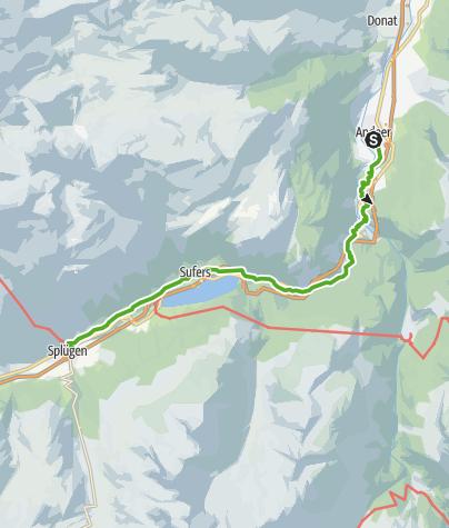 Karte / 50.02 Andeer - Splügen, viaSpluga