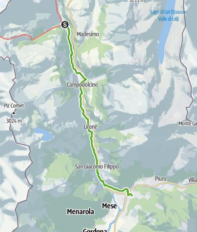 Karte / 50.04 Isola (I) - Chiavenna (I), viaSpluga