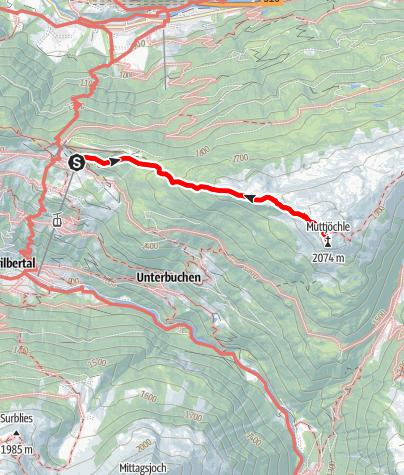Map / Kristberg - Muttjöchle (2.074m)